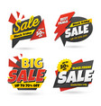 black friday sale sticker banner set vector image vector image
