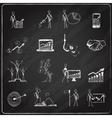 Business doodle chalkboard vector image vector image