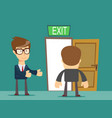 businessman welcomes you to come to his home vector image
