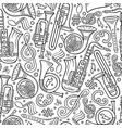cartoon hand-drawn classic music seamless pattern vector image