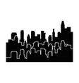city view silhouette vector image vector image