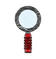 color crayon stripe cartoon magnifying glass with