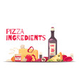 colored pizza composition vector image vector image