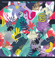 colorful seamless pattern with tropical vector image