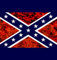 confederate flag over fire vector image vector image