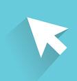 cursor icon modern design flat style icon vector image