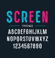 decorative sanserif font with rounded corners vector image vector image