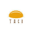 design template taco mexican food vector image