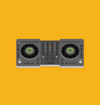 dj turntable device in flat style isolated on vector image