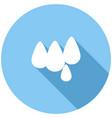 drop icon on long shadow vector image