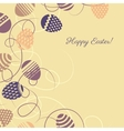 Easter multicolor eggs on yellow background