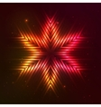 Fire red star vector image vector image
