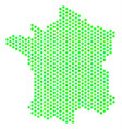 green honeycomb france map vector image vector image