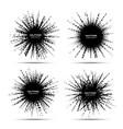 halftone star frame set grunge spot borders vector image