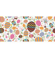happy easter colored easter eggs vector image