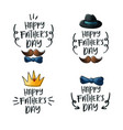 happy father day emblem set vector image vector image