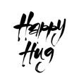 happy hug vector image