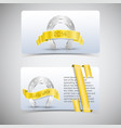 horseshoes banners set vector image vector image