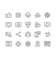 line social networks icons vector image