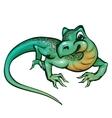 lizard in cartoon style vector image