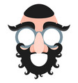 mask of a jew with a beard and mustache concept vector image