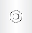 mechanics hex nut icon stylized logo vector image vector image