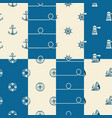 nautical background collection vector image vector image