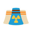 nuclear power plant icon energy label for web on vector image vector image