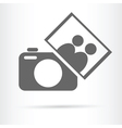 people photo camera icon vector image vector image