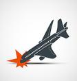 Plane crash Stock vector image
