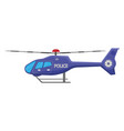 police helicopter icon isolated on white vector image vector image