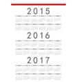 Polish rectangle calendars 2015 2016 2017 vector image vector image