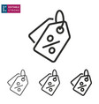 price tag line icon on white background editable vector image