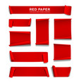 red paper roll collection isolated vector image