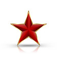 red star on golden frame vector image vector image