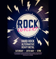 rock concert poster with text and grunge effect vector image