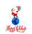 santa with gift vector image