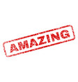 scratched amazing rounded rectangle stamp vector image