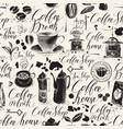 seamless background on theme coffee house vector image vector image
