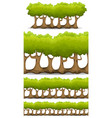 seamless forest trees hedges and bush set vector image vector image