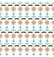 seamless pattern of anchors wheels and mustache vector image vector image
