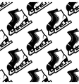Seamless pattern of ice skates vector image vector image