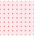 Seamless retro pattern hearts eps 10 vector image vector image
