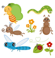 Set funny insects vector image vector image
