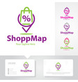 shop map logo design vector image