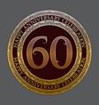 sixtieth happy anniversary celebration logo symbol vector image