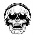 skull in sunglasses vector image vector image