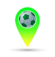 Soccer ball marker vector image vector image