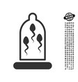 sperm protection icon with job bonus vector image vector image