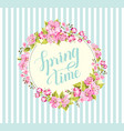 spring background with sakura flowers vector image vector image